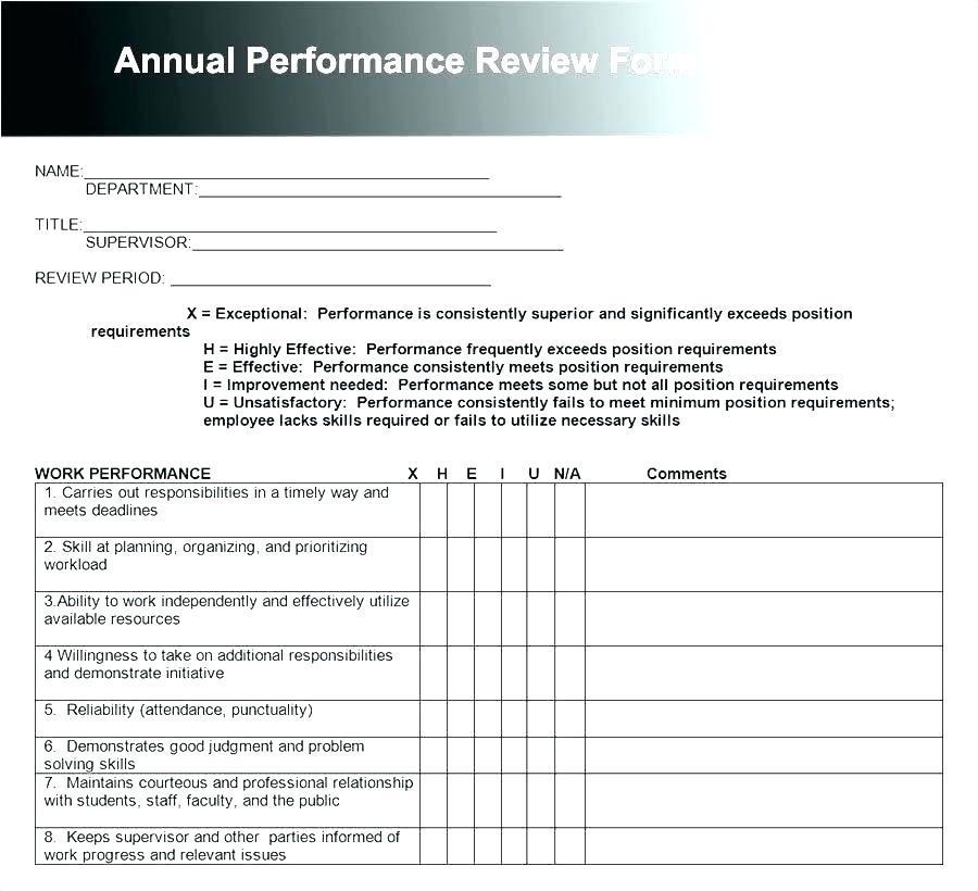 Employee Performance Appraisals Templates