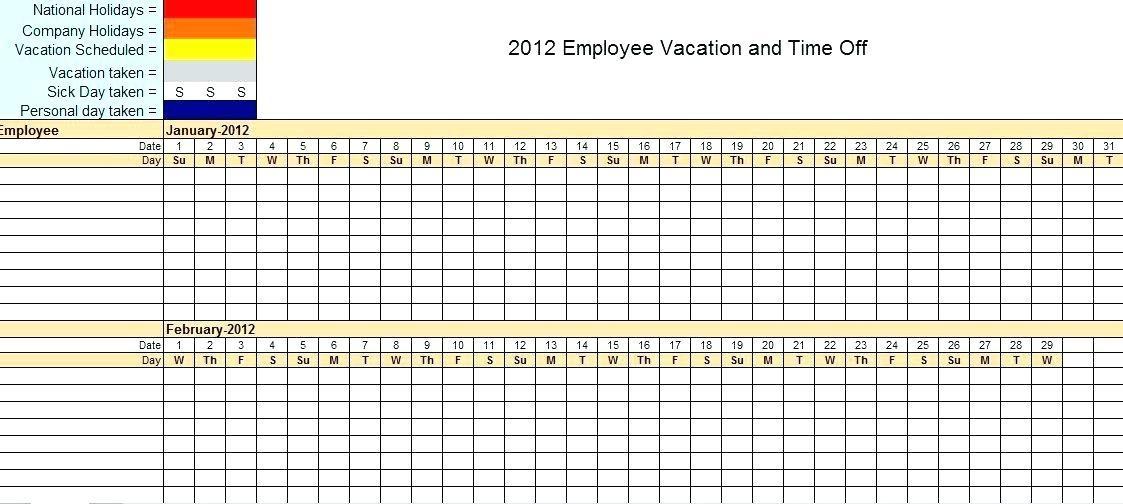 Excel Monthly Schedule Template 2017