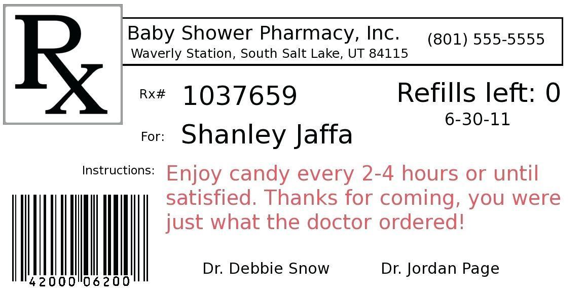 Fake Prescription Labels Template