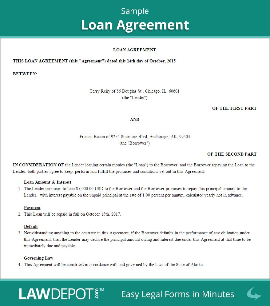 Family Loan Contract Template Free