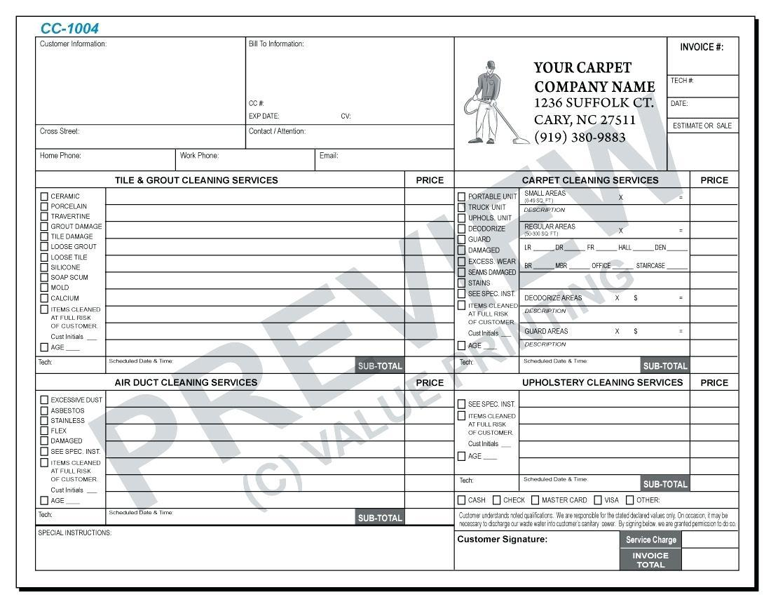 Free Carpet Installation Invoice Template