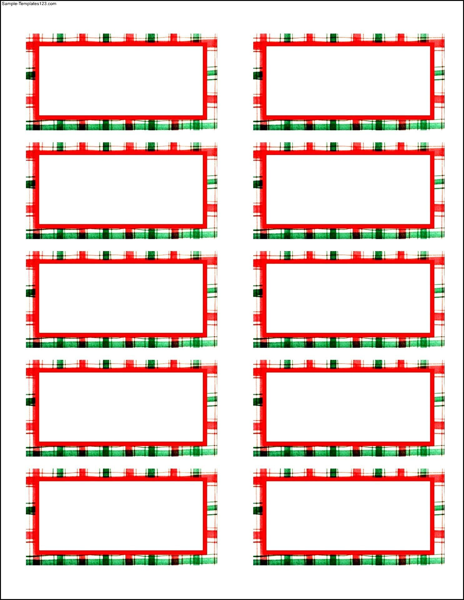 Free Christmas Shipping Label Templates