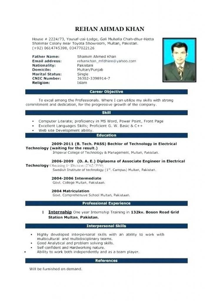 Free Cv Template Microsoft Word Download