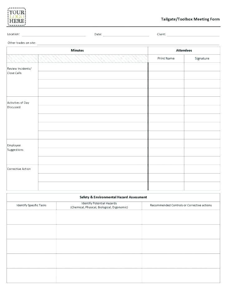 Free Meeting Minutes Template For Mac