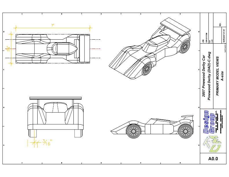 Free Pinewood Derby Car Templates