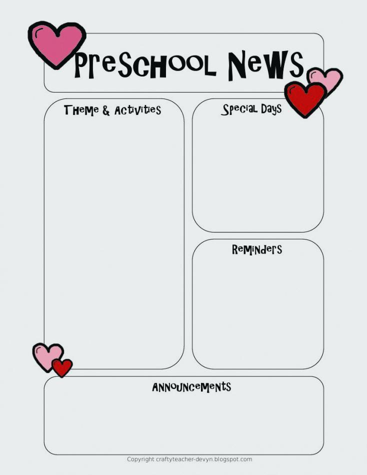Free Printable School Newsletter Templates
