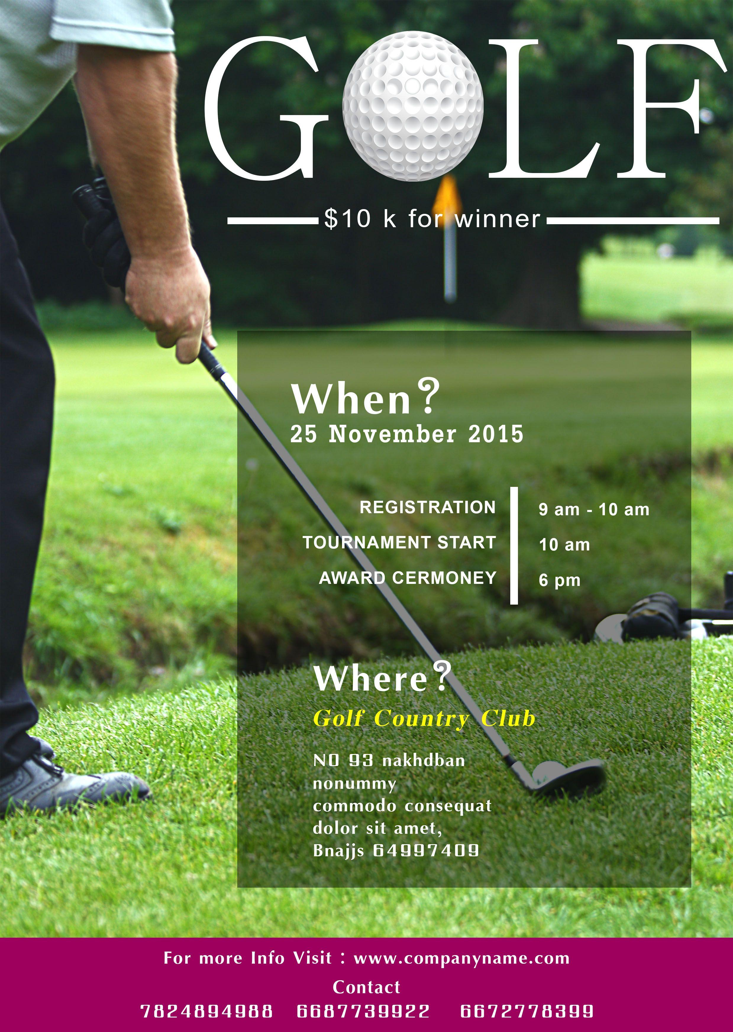 Golf Tournament Templates