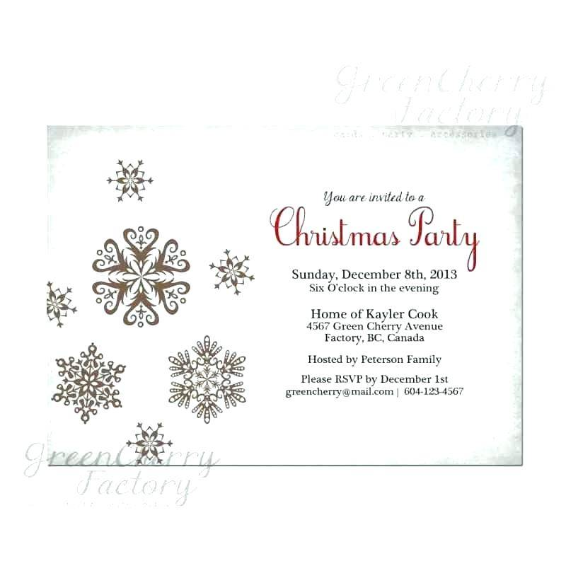 Holiday Party Email Invite Template