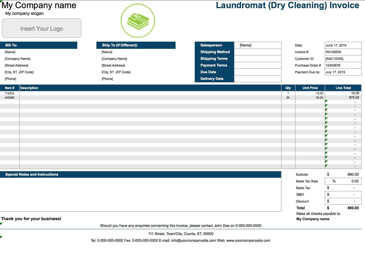 Home Maintenance Invoice Template