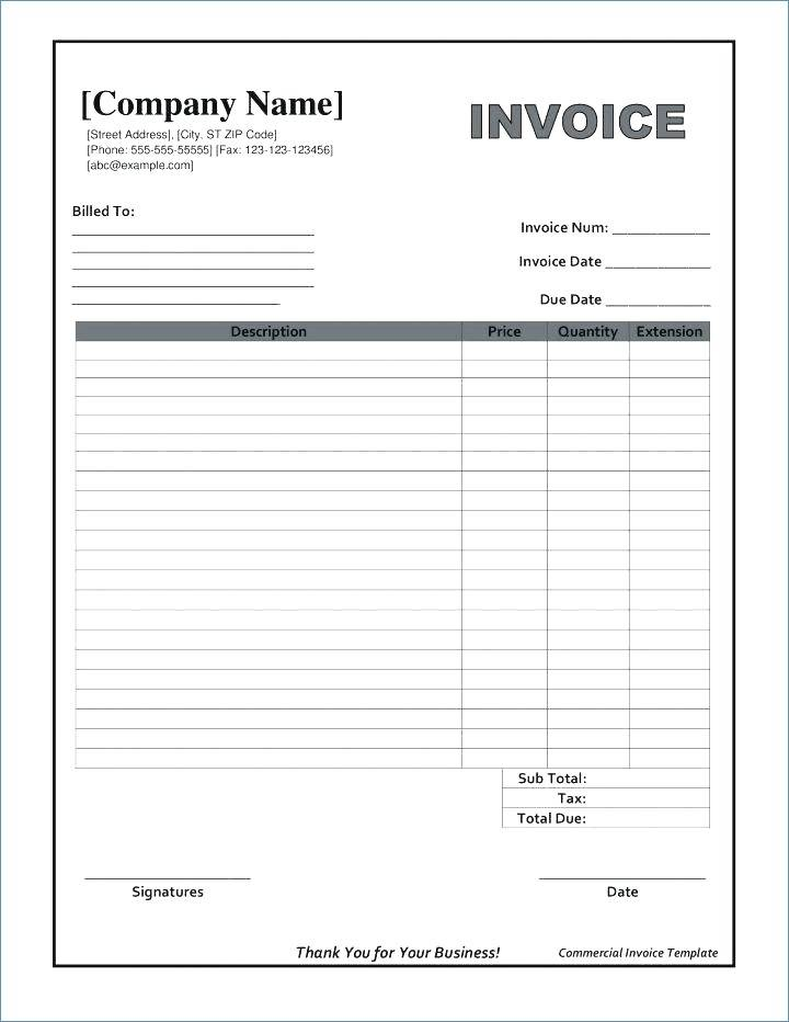 Invoice Template Editable Pdf
