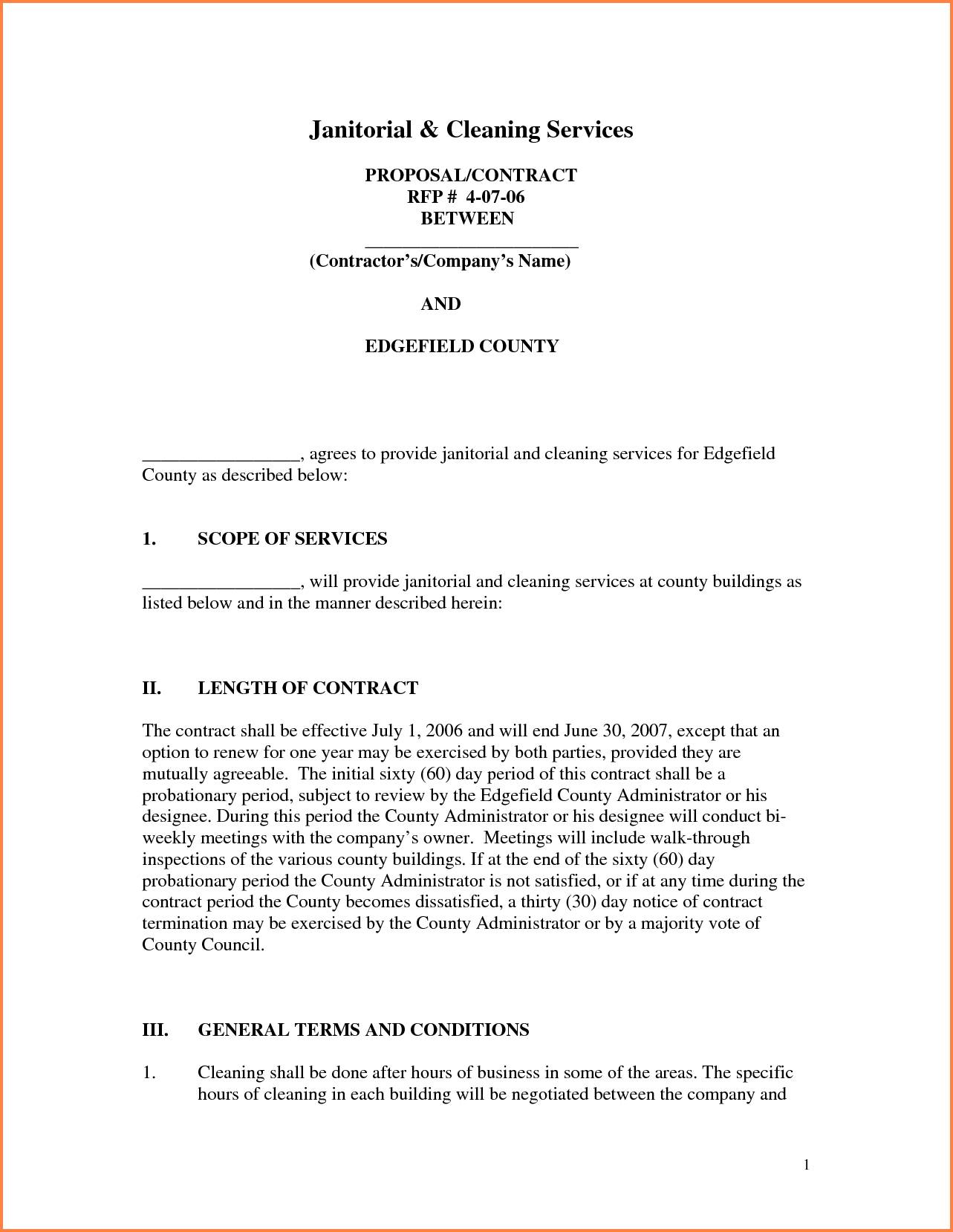 Janitorial Proposal Samples
