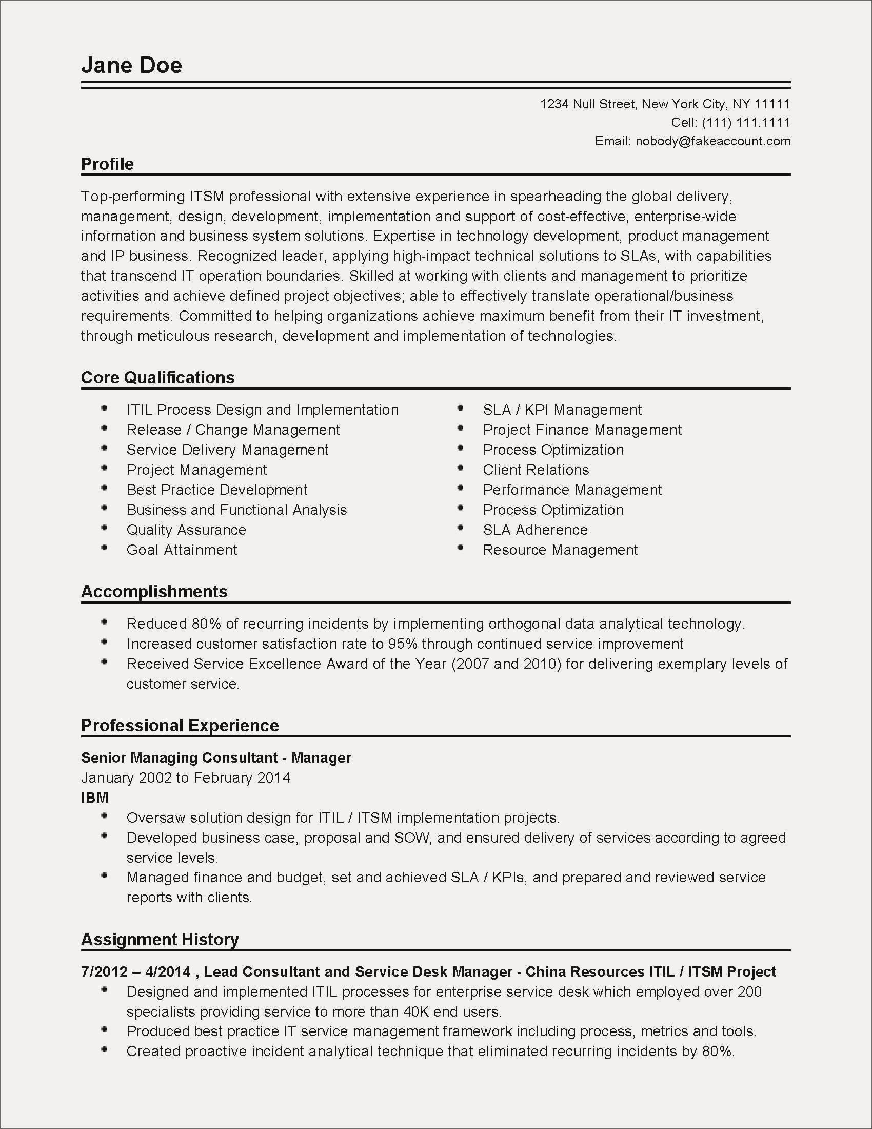 Job Application Blank Resume Template