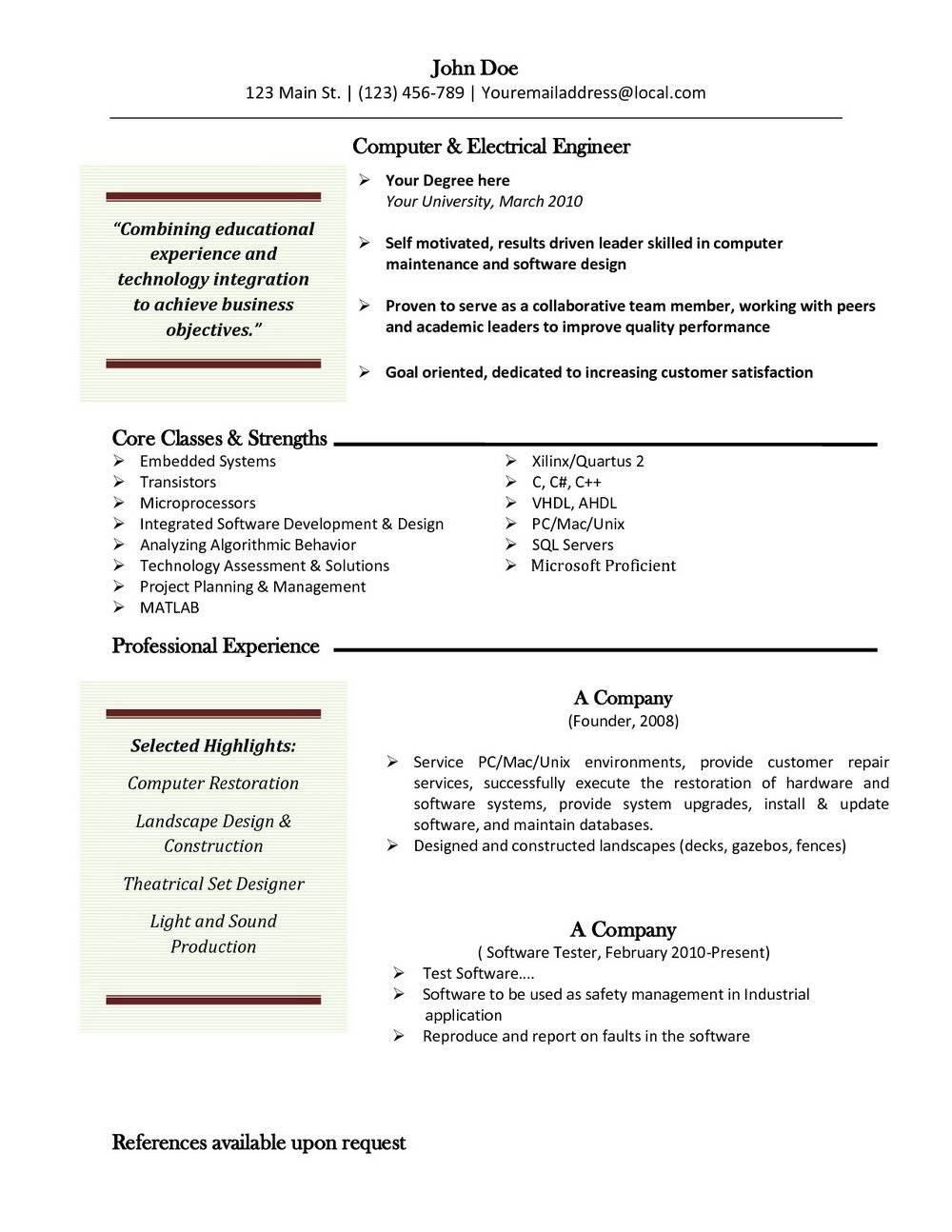 Mac Word Resume Templates