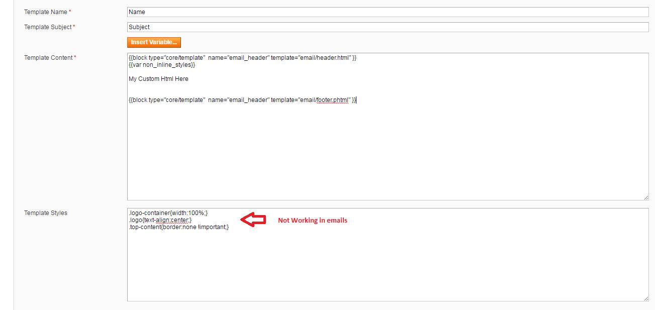 Magento Custom Email Template Not Working