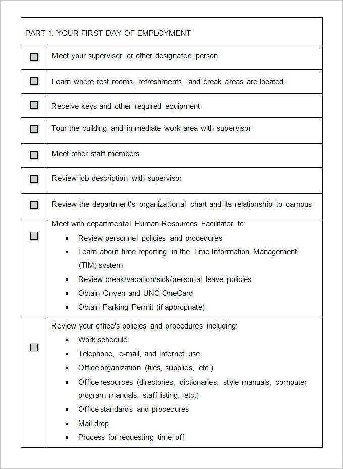 New Employee Orientation Outline Templates
