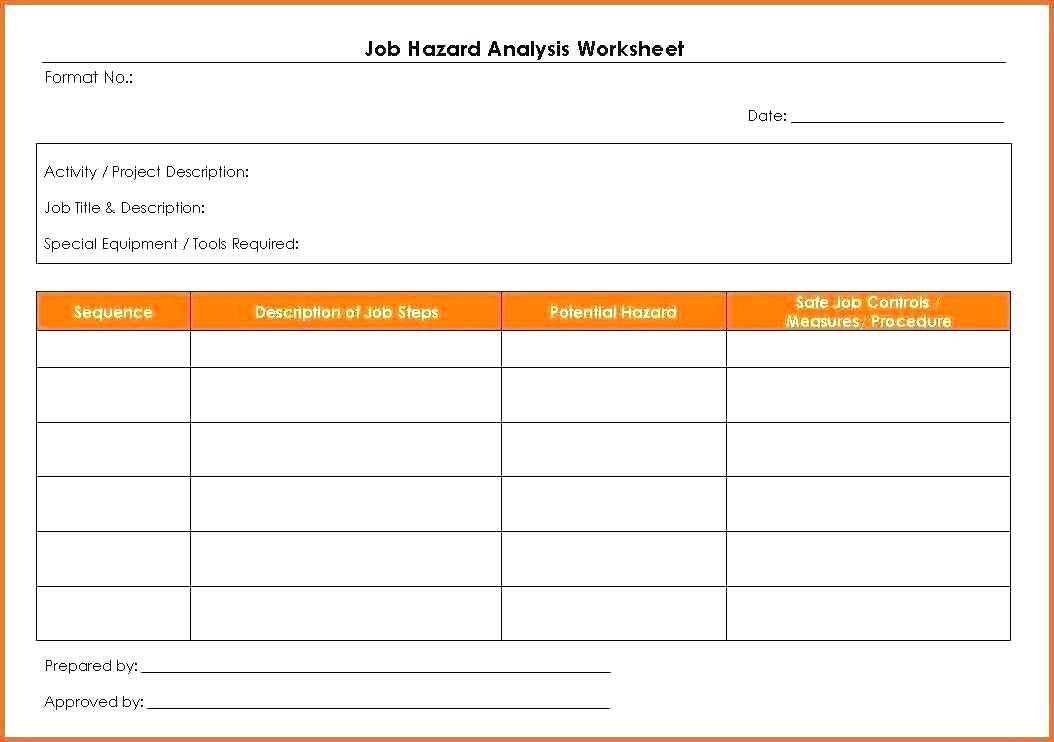 Osha Activity Hazard Analysis Form