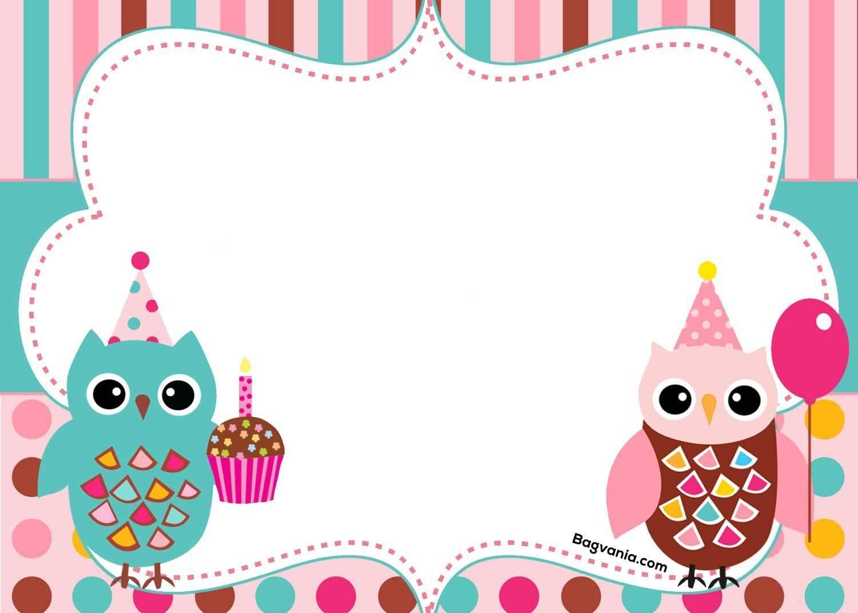 Owl Invitation Template Free
