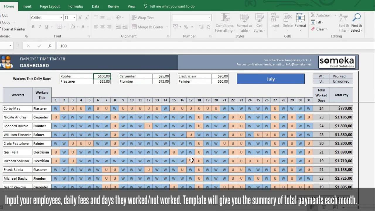 Payroll Template Free Excel