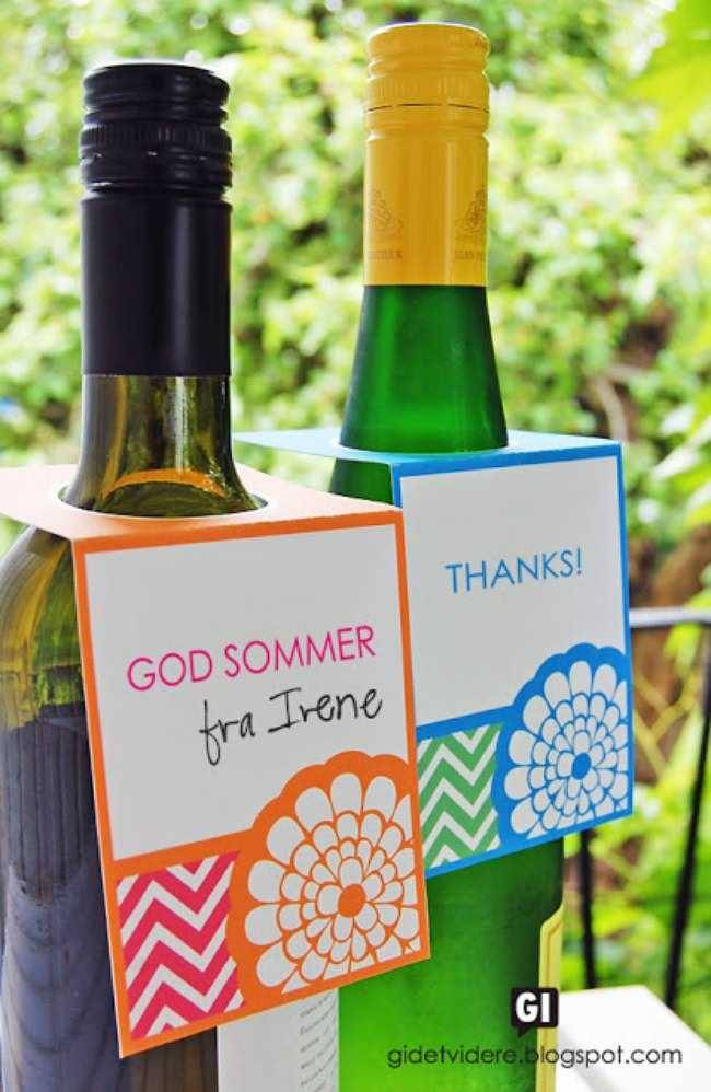 Personalized Wine Bottle Label Template