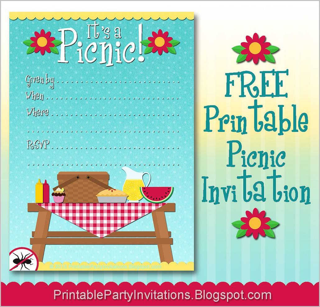 Picnic Invitation Samples