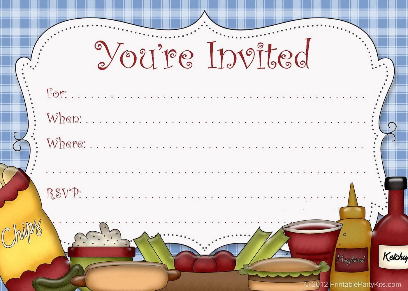Picnic Invitation Template Printable