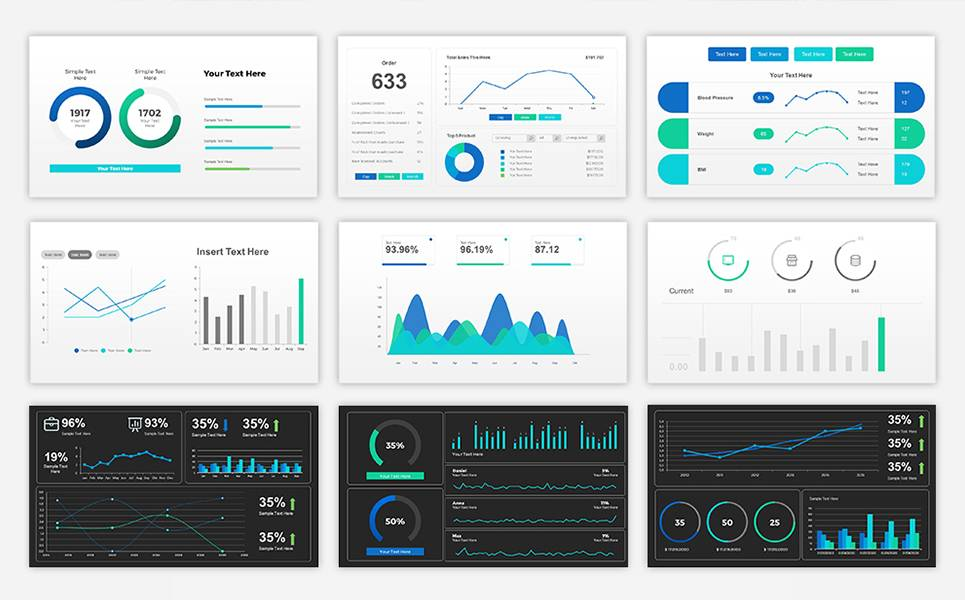 Powerpoint Sales Dashboard Template