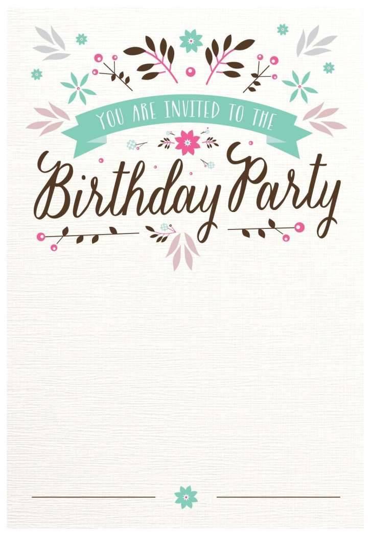 Printable Templates For Birthday Invitations