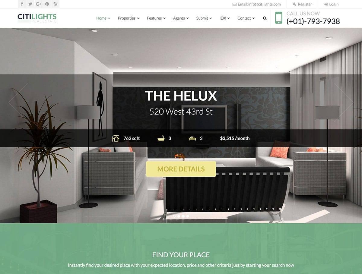 Real Estate Theme Wordpress 2017