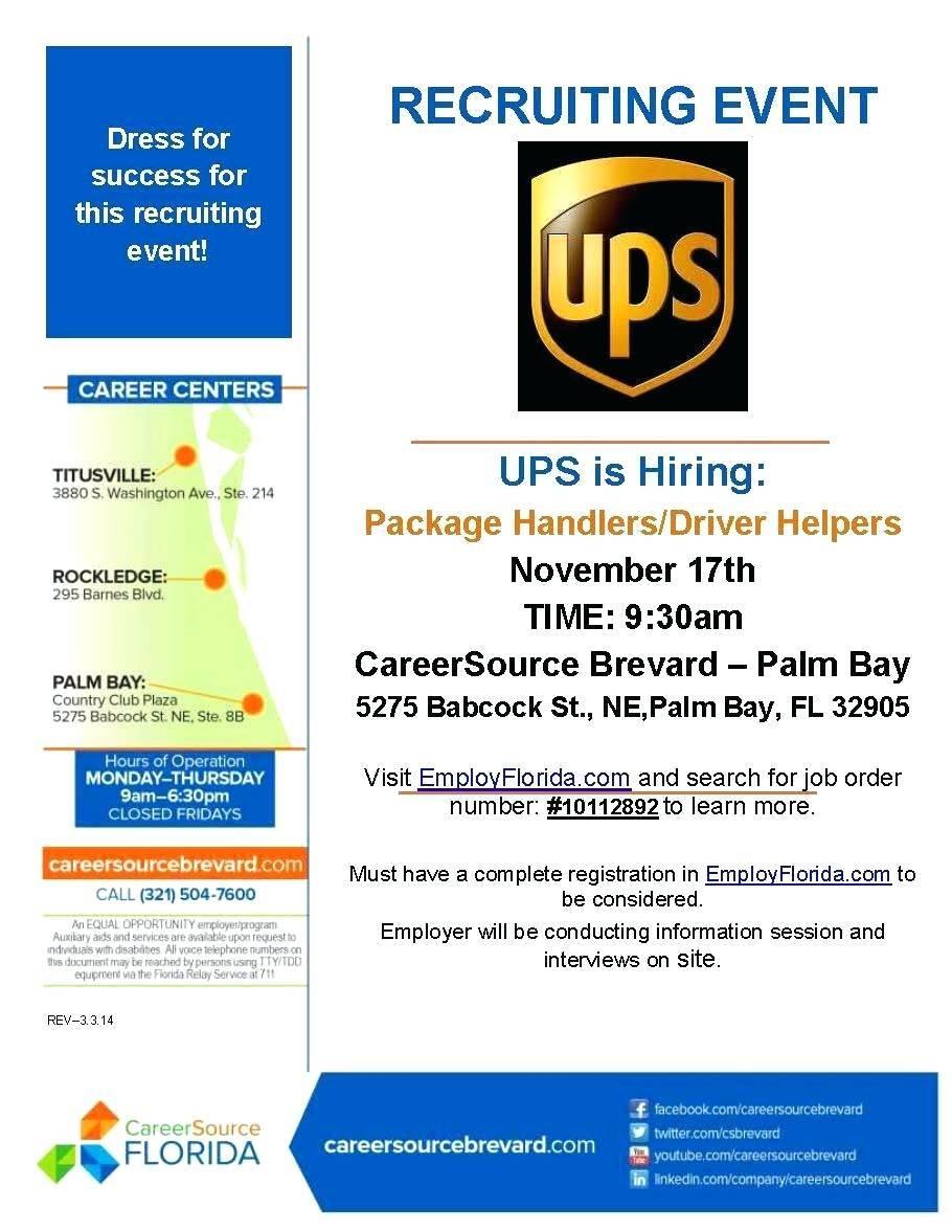Recruiting Brochure For Job Fair Template