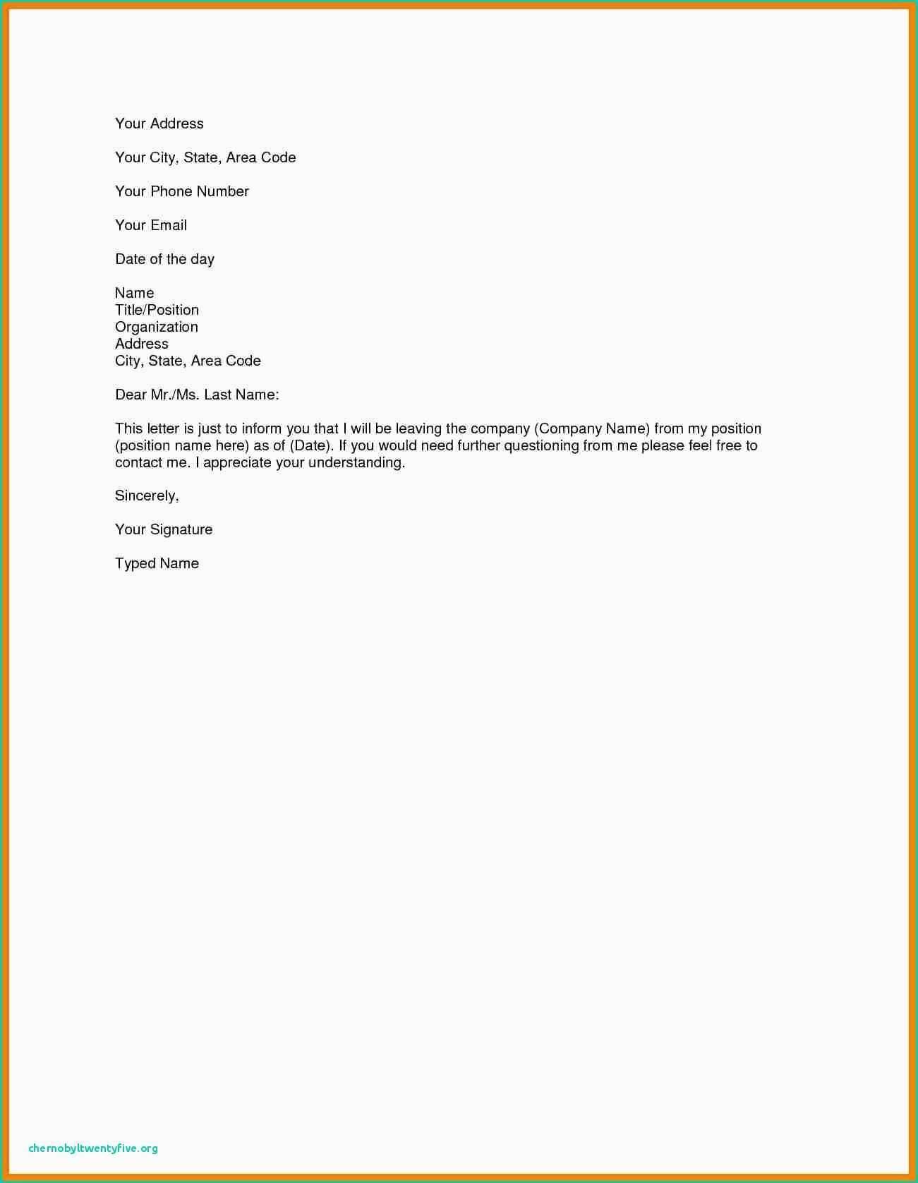 Resignation Letter Template Uk