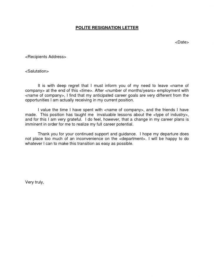 Retirement Resignation Letter Template Free