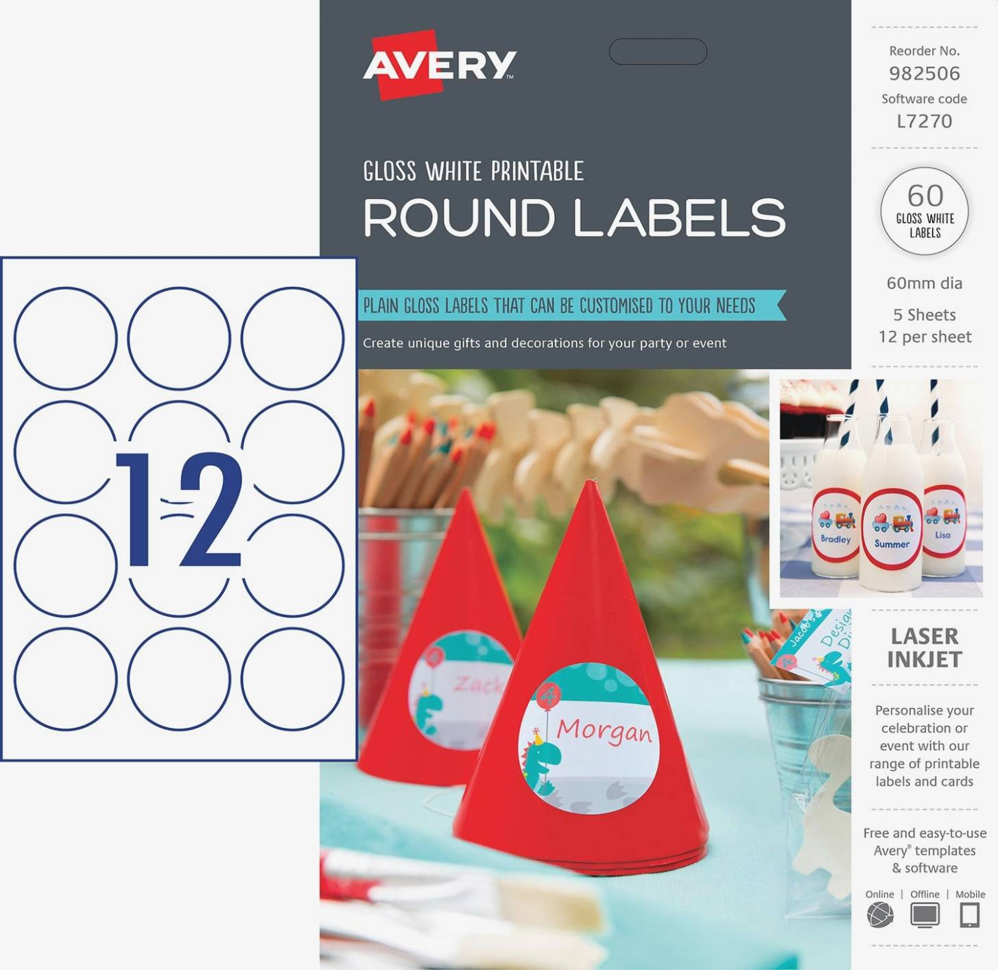 Round Avery Labels Template