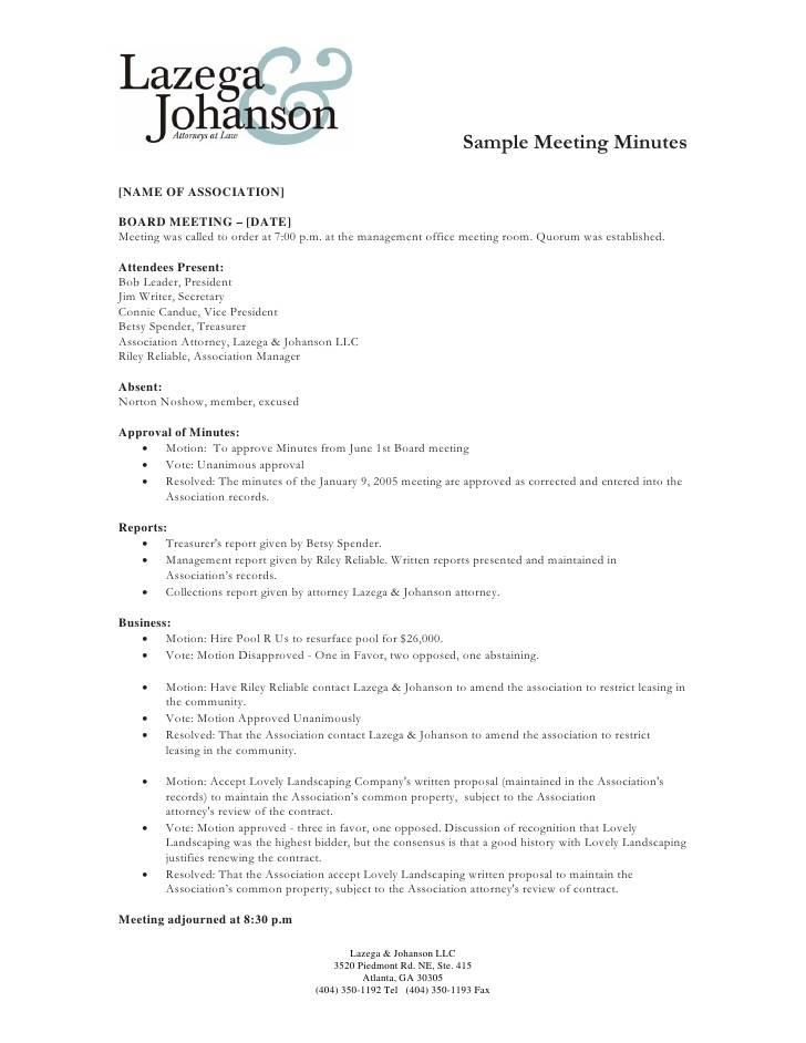 Single Member Llc Meeting Minutes Template
