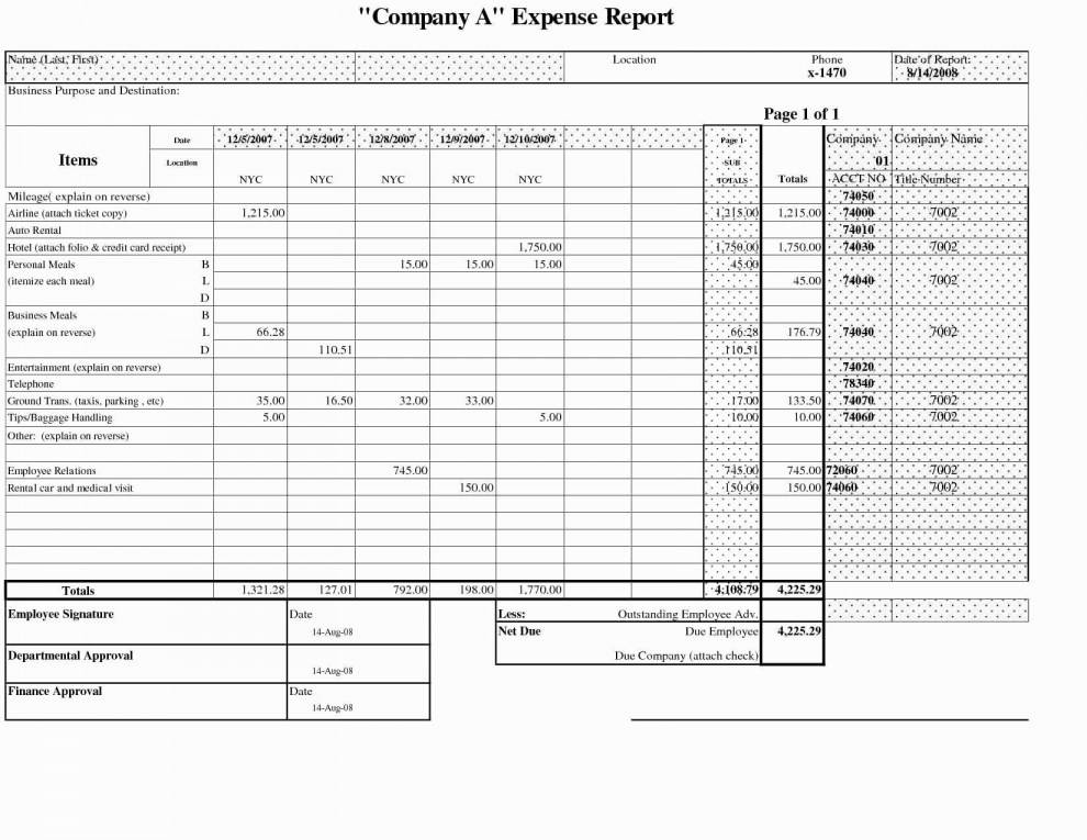 Small Business Expense Tracker Excel Template