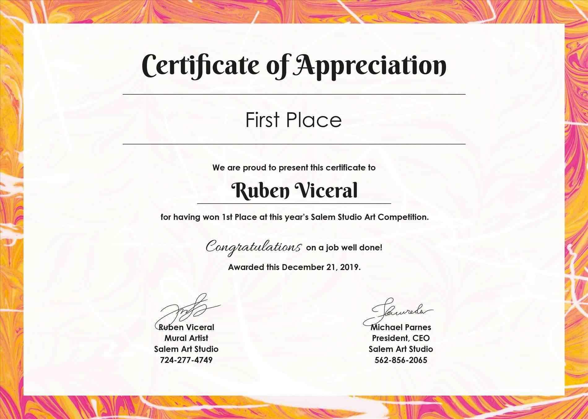 Stock Certificate Template Photoshop