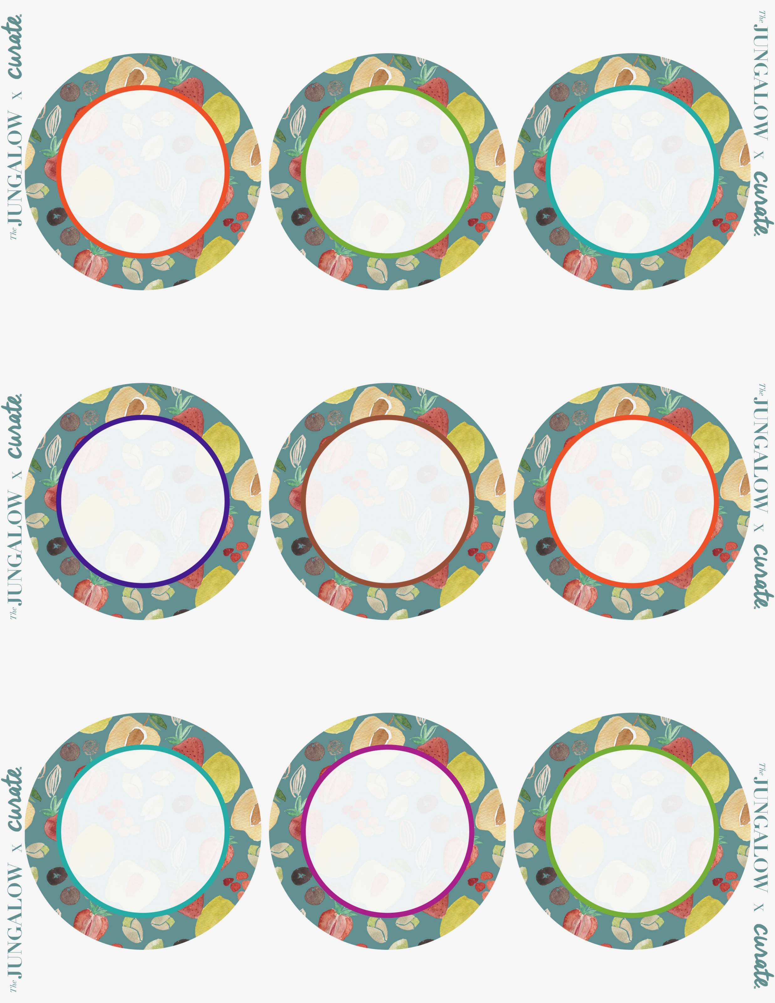 Template For Printing Round Labels
