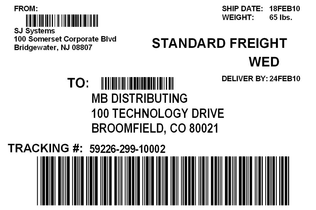 Template For Shipping Labels