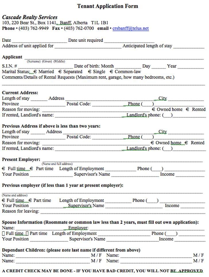 Tenant Agreement Template Alberta