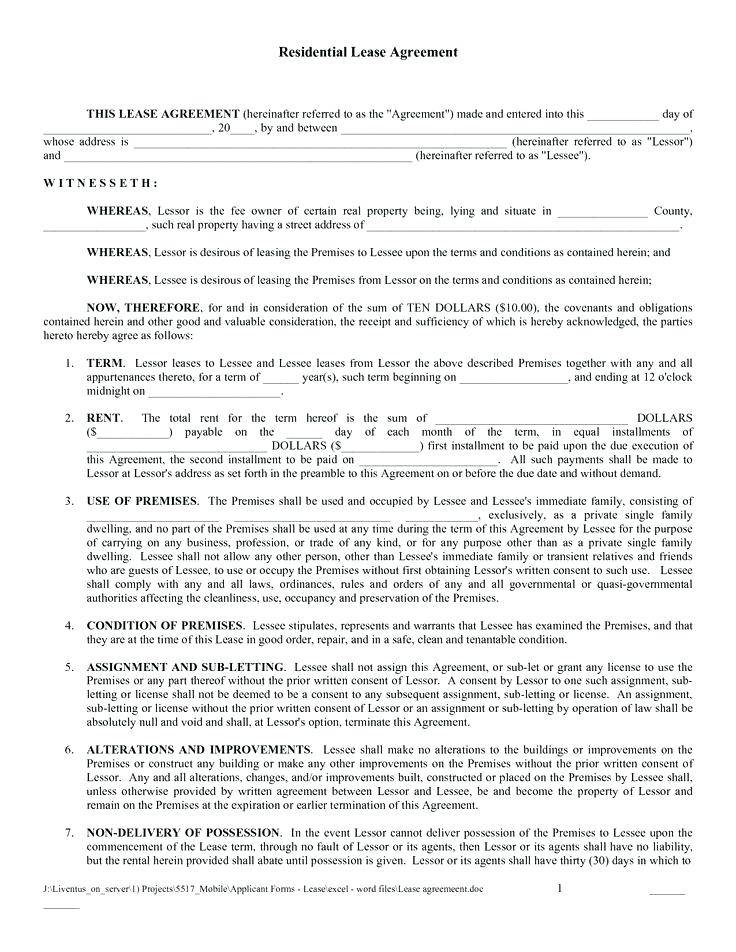Tenant Lease Agreement Template Uk