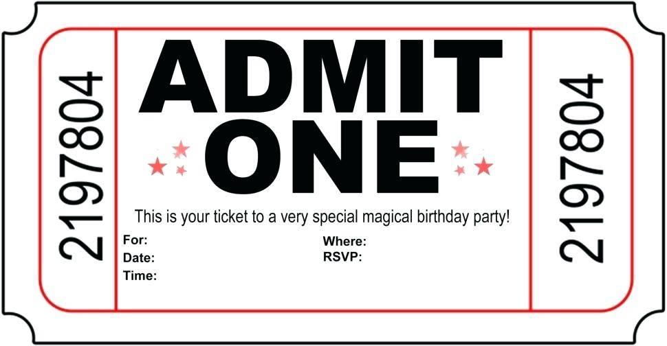 Train Ticket Birthday Invitation Template