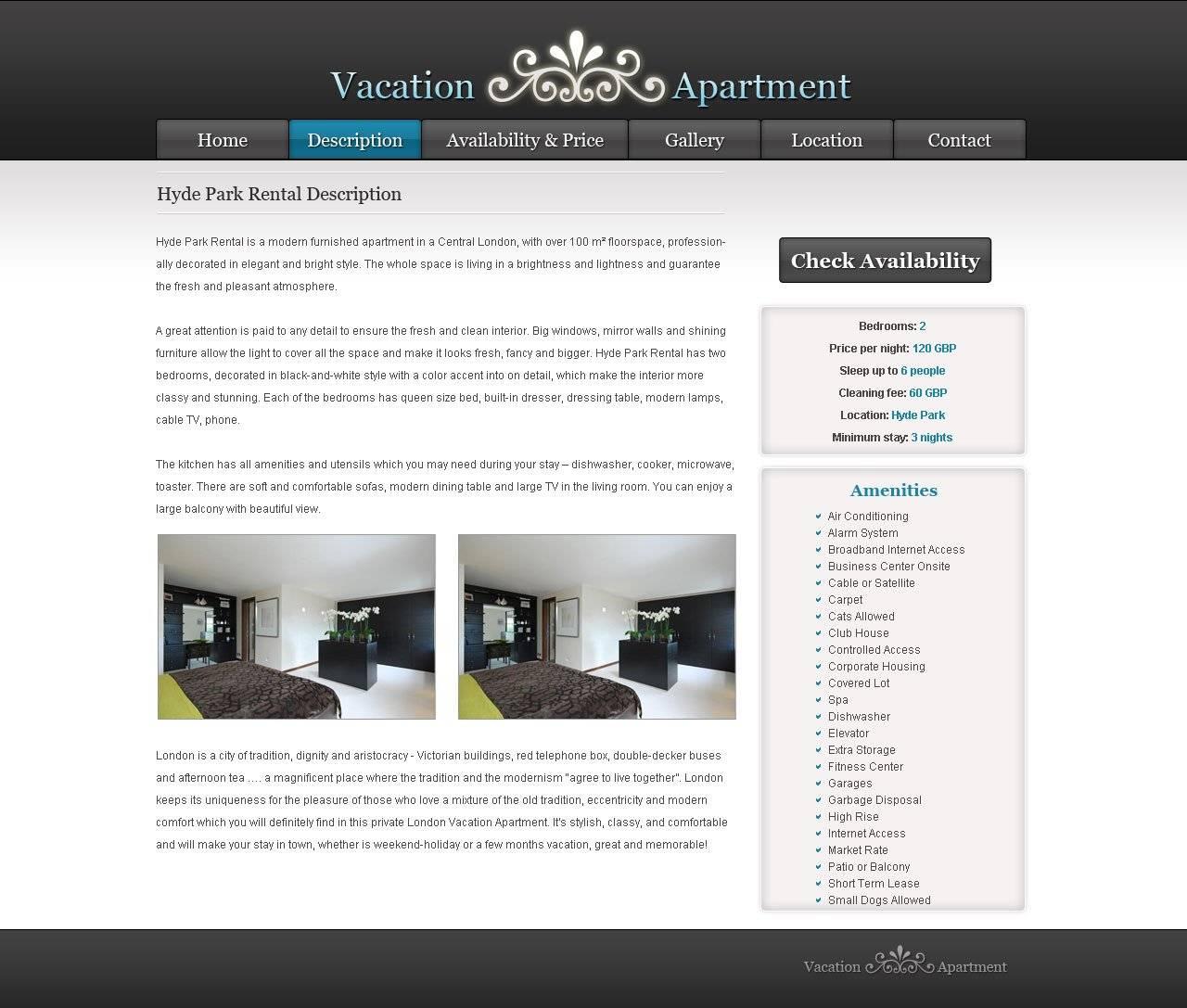 Vacation Rental Website Templates Free