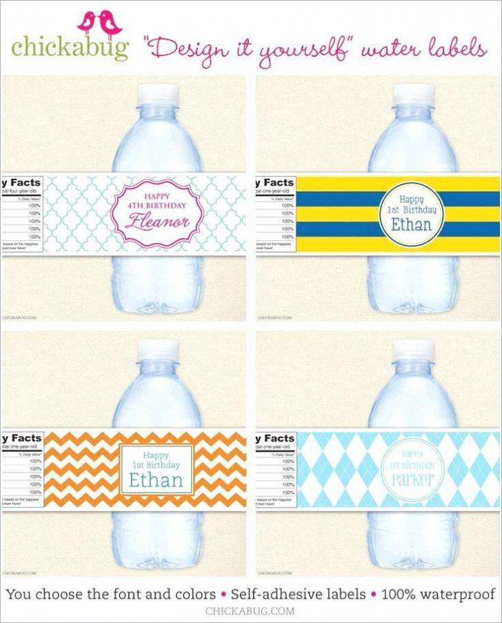 Water Bottle Wrappers Templates Free