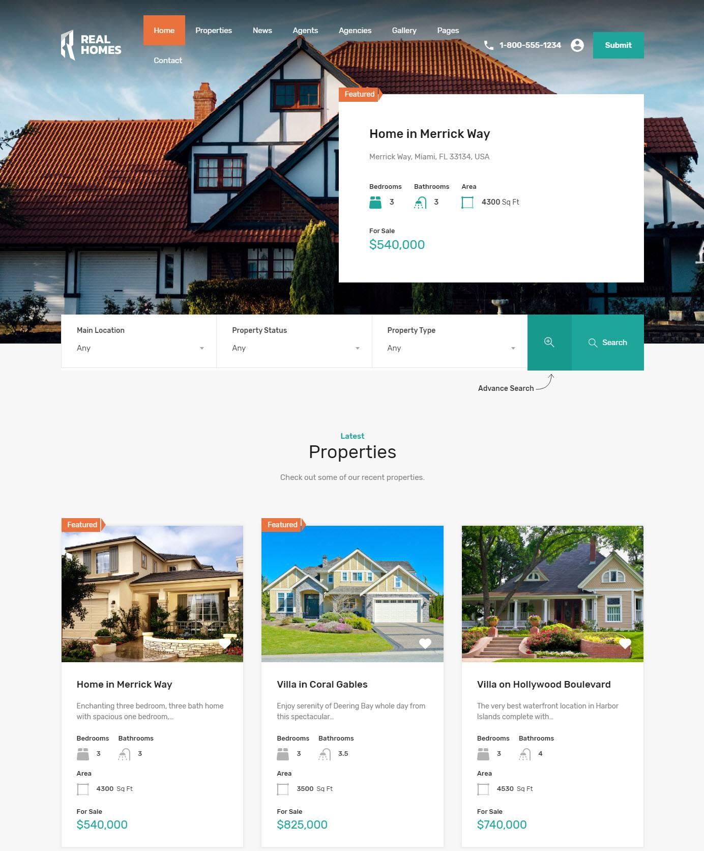 Wordpress Real Estate Template