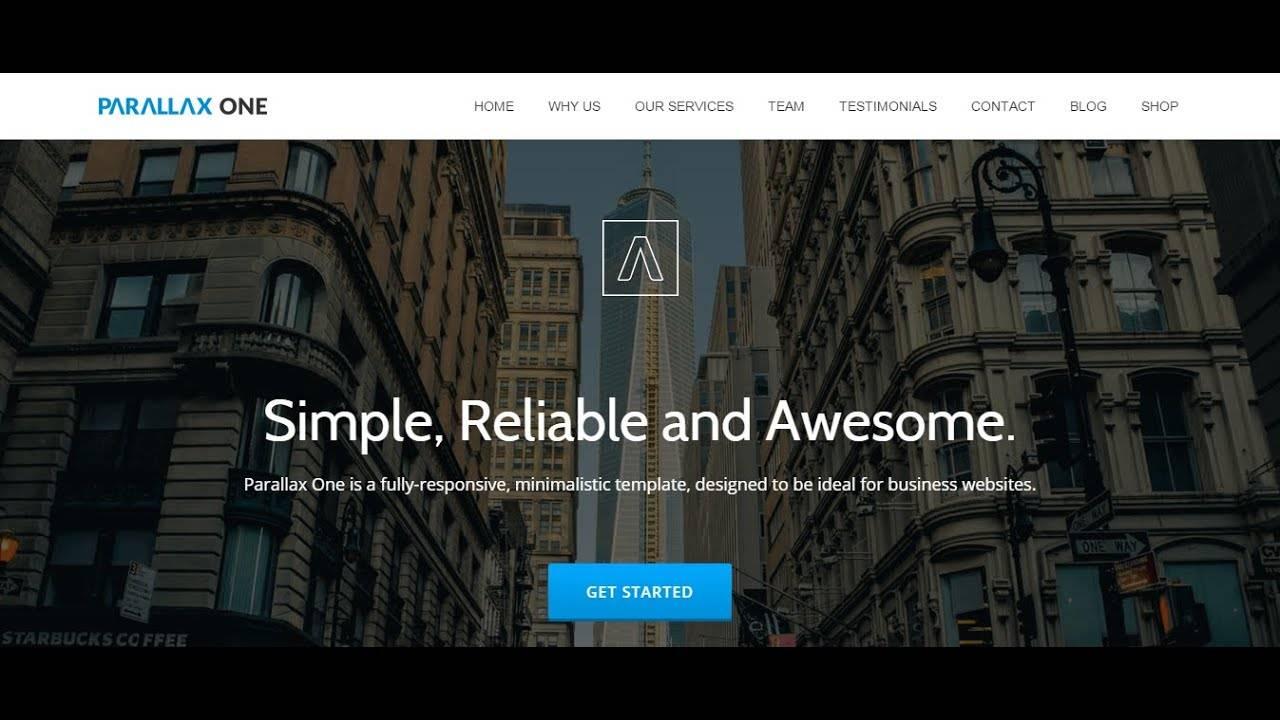 Wordpress Theme Parallax One