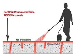 Spray on seamless membrane