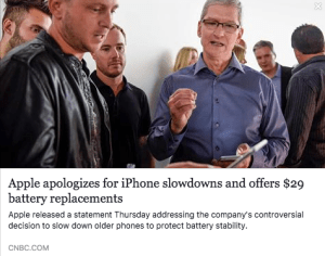 Apple Batterygate – Iphone 6 Slow Down