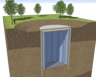 A ground dug storage tank for seasonal thermal energy storage