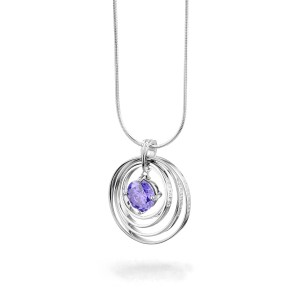 Synergy Necklace with purple chakra love stone