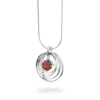 Synergy Necklace with red chakra love stone
