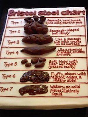 Bristol Stool Chart Cake -